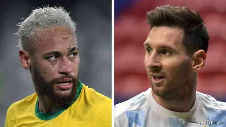 Neymar gegen Messi - Brasilien und Argentinien im Copa-Finale - sportschau.de