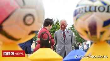 Back of the net! Prince Charles backs England for Euros win