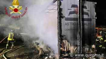Incendio a Mariano Comense: in fiamme un cassone - QuiComo