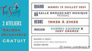 2ème ATELIER « BALBOA découverte » – GRATUIT – DANSE SWING Salle BROUSS'ART MUSIQUE mardi 13 juillet 2021 - Unidivers