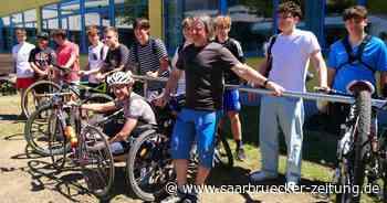 Gemeinschaftsschule Marpingen veranstaltet Fahrsicherheitstraining mit dem Rad - Saarbrücker Zeitung