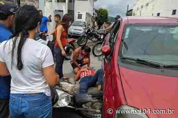 Motociclista fica ferido após colidir com carro em União dos Palmares O acidente de trânsito ocorreu - BR 104