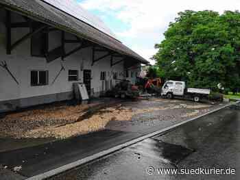 Mühlingen/Hohenfels: Bilder von überfluteten Straßen, Wiesen und Feldern bei Mühlingen und Hohenfels - SÜDKURIER Online