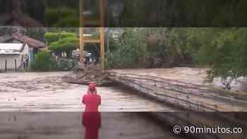 Previas : Puente colgante de Bugalagrande fue arrastrado por una creciente - 90 Minutos