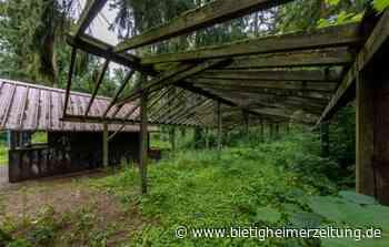 Waldspielplatz in Kleinsachsenheim: Ein Dach für die Spielplatz-Hütte - Bietigheimer Zeitung