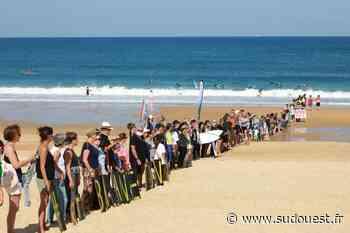 Capbreton : une chaîne humaine d'une centaine de personnes pour dénoncer le projet du RTE - Sud Ouest