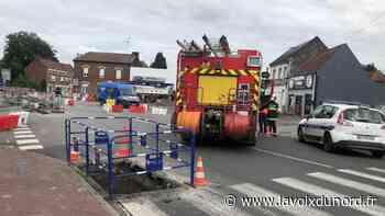 Onnaing: la fuite de gaz oblige à fermer la route et à évacuer un garage automobile - La Voix du Nord
