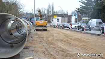 Dritter Bauabschnitt beginnt: Hamburger Straße in Elmshorn wird im August wieder voll gesperrt | shz.de - shz.de