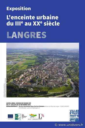 EXPOSITION : L'enceinte urbaine de Langres du IIIe au XXe siècle Langres,chemin de ronde est - Unidivers