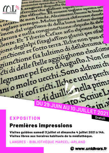 Exposition - Premières Impressions Médiathèque Marcel Arland - Unidivers