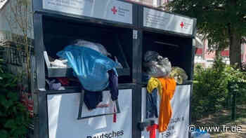 Rotes Kreuz wird der Altkleiderberge in Neu-Isenburg nicht mehr Herr - Frankfurter Rundschau