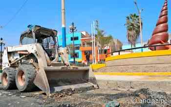 Huaura: inician obras de mantenimiento vial en el puerto de Huacho - Agencia Andina