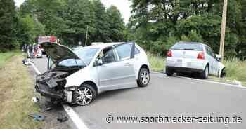 Zwei Rettungshubschrauber im Einsatz : Verkehrsunfall mit drei Schwerverletzten in Schiffweiler - Saarbrücker Zeitung