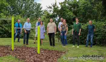 Vom Turnen auf dem Koloss direkt zum Chillen in die Hängematte: Spielplatz am Bückeburger Weinberg wiedereröffnet - SHG-Aktuell.de