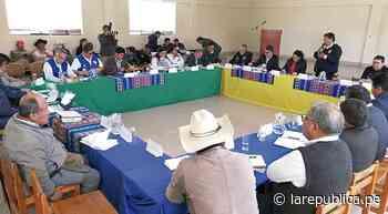 Oficializan mesas de diálogo por problemática hídrica y minera en Moquegua y Tacna - LaRepública.pe