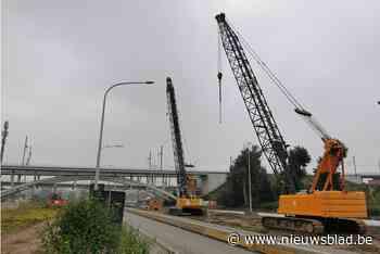 Na bouwverlof start aanleg tunnel onder Woluwelaan: fietsers en voetgangers kunnen via tijdelijke brug drukke verkeersas oversteken