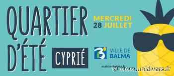Quartier d'été – Mercredi 28 juillet Lac Saint-Clair mercredi 28 juillet 2021 - Unidivers
