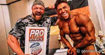 Beim 1. Wettkampf: Johny Münster holt sich Pro Card im Natural Bodybuilding! - Gannikus