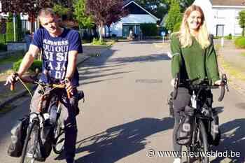 Twee vrienden fietsen naar Santiago voor Lia (4) die lijdt aan het zeldzame Kabuki-syndroom