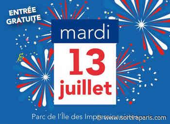 Feu d'artifice du 14 Juillet 2021 à Chatou (78) - sortiraparis