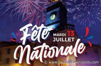 Manosque : le feu d'artifice du 13 juillet tiré de la Rochette - Haute-Provence Info