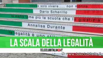 """Casavatore: inaugurata la """"scala della legalità"""" per le vittime di camorra - Teleclubitalia.it"""