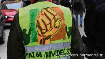 À Pont-Audemer, un petit groupe de Gilets jaunes est sorti après l'allocution d'Emmanuel Macron - Paris-Normandie