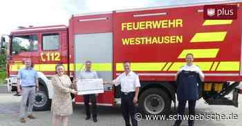 Raiba Westhausen spendet für Kreisfeuerwehrfest - Schwäbische