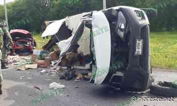 Cinco heridos en choque de auto y camioneta en Tierra Blanca - NORESTE