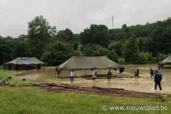 """Scouts uit Wilrijk start crowdfunding na overstroming kampplaats: """"De schade is groot"""""""