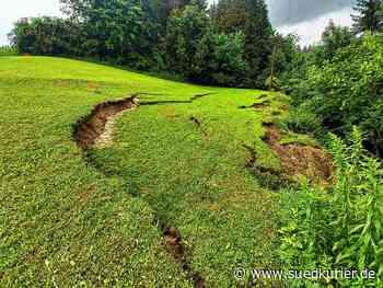 Hohenfels/Stockach: L194 zwischen Mahlspüren im Tal und Kalkofen bleibt wohl länger gesperrt: Rutschender Hang muss untersucht und gesichert werden - SÜDKURIER Online