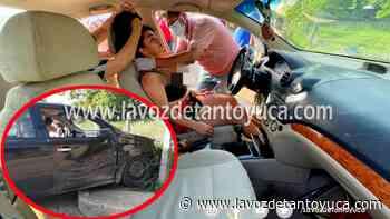 Mujer resulta lesionada en aparatoso choque - La Voz De Tantoyuca