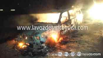 Abandonan camioneta tras incendiarse - La Voz De Tantoyuca