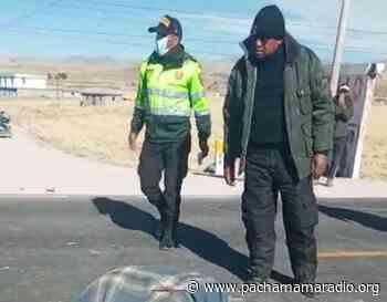Choque entre auto y motocicleta deja un fallecido en vía Puno – Desaguadero - Pachamama radio 850 AM