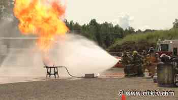 Firefighters from Terrace and Thornhill take part in propane fire training. - CFTKTV