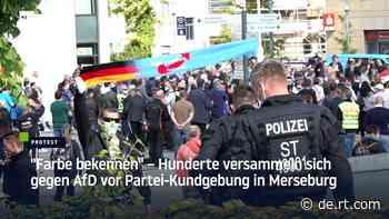 """""""Farbe bekennen"""" – Hunderte versammeln sich gegen AfD vor Partei-Kundgebung in Merseburg. - RT Deutsch"""
