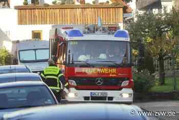 Feuerwehr trägt Patienten aus aus drittem Stock in Großheppach - Weinstadt - Zeitungsverlag Waiblingen - Zeitungsverlag Waiblingen