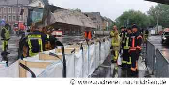 Sperrung in der Innenstadt: Herzogenrath rüstet sich aktuell gegen Hochwasser - Aachener Nachrichten