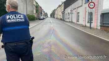 Entre Maubeuge et Louvroil, une dangereuse nappe de carburant sur les routes - La Voix du Nord