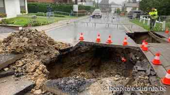 La route s'effondre à Ciney: la rue des Sorbiers inaccessible - Sudinfo.be