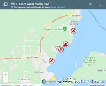 Four Gibsons beaches closed due to E. coli levels - Coast Reporter