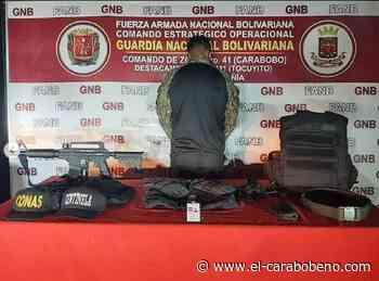 Detenido en Guacara un hombre con un facsímil de arma de guerra - El Carabobeño