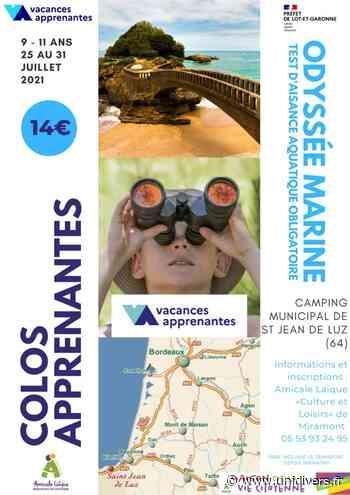 COMPLET – Odyssée Marine Camping municipal Chibau Berria dimanche 25 juillet 2021 - Unidivers