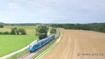 Premiere in BW: Erster Wasserstoffzug bei Sigmaringen unterwegs - SWR