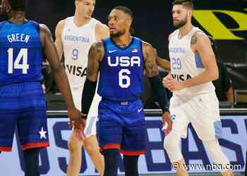 Lillard And Team USA Best Argentina For First Win In Las Vegas