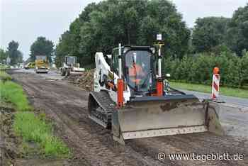 K 39: Straßenbauer arbeiten mit Hightech in Jork-Borstel - Jork - Tageblatt-online