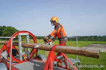 Bischofswerda: So übt die Feuerwehr das Aufräumen nach dem Sturm - Sächsische.de