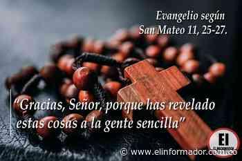 Soy manso y humilde de corazón Evangelio según San Mateo 11, 28-30. - El Informador - Santa Marta