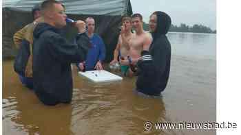 Scouts ontsnappen aan ramp: op weg naar kamp horen ze dat heel hun terrein onder water staat