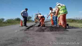 Ruta 7: Piden precaución por bacheo entre Aguada San Roque y el Baden de Carranza - Noticias NQN